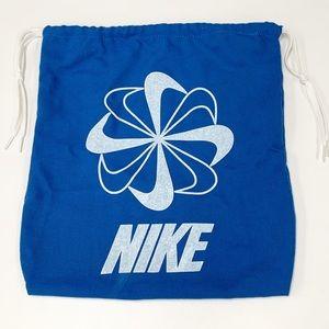 Nike Pinwheel Shoe Bag 14 x 12 Vintage Blue